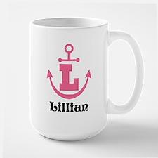 Custom Anchor Monogram L Mugs
