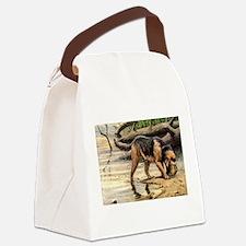 FIN-otterhound-portrait.png Canvas Lunch Bag
