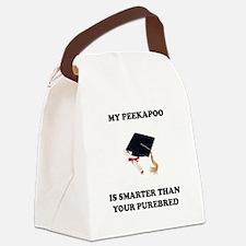 peekapoo-smarter-purebred.tif Canvas Lunch Bag