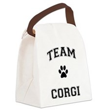 Team Corgi Canvas Lunch Bag