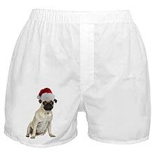 FIN-santa-pug-fawn-CROP.png Boxer Shorts