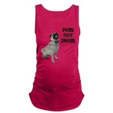 NEW-pugs-not-drugs-BonW.png Maternity Tank Top