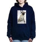 FIN-fawn-pug-photo.png Women's Hooded Sweatshirt