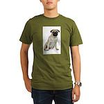 FIN-fawn-pug-photo.png Organic Men's T-Shirt (dark
