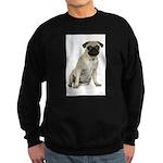 FIN-fawn-pug-photo.png Sweatshirt (dark)