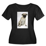 FIN-fawn-pug-photo.png Women's Plus Size Scoop Nec