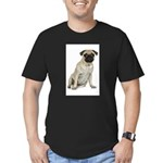 FIN-fawn-pug-photo.png Men's Fitted T-Shirt (dark)