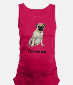 FIN-fawn-pug-love.png Maternity Tank Top