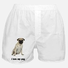 FIN-fawn-pug-love.png Boxer Shorts