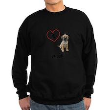 3-FIN-puggle-love.png Sweatshirt