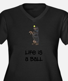 FIN-rottweiler-life-ball.png Women's Plus Size V-N