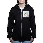 FIN-rottweiler-christmas.png Women's Zip Hoodie