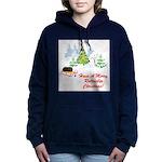 FIN-rottweiler-christmas.png Women's Hooded Sweats