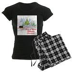 FIN-rottweiler-christmas.png Women's Dark Pajamas