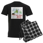 FIN-rottweiler-christmas.png Men's Dark Pajamas
