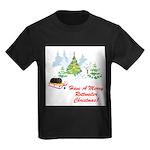 FIN-rottweiler-christmas.png Kids Dark T-Shirt