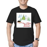 FIN-rottweiler-christmas.png Men's Fitted T-Shirt
