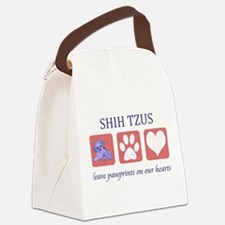 FIN-shih-tzu-pawprints.png Canvas Lunch Bag