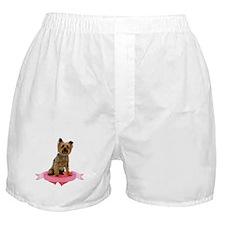 Silky Terrier Valentine Boxer Shorts