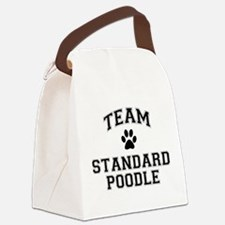 Team Standard Poodle Canvas Lunch Bag