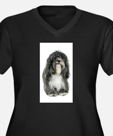 FIN-tibetan-terrier.png Women's Plus Size V-Neck D