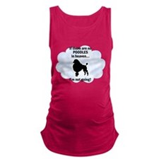 FIN-toy-poodles-heaven.png Maternity Tank Top