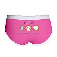 FIN-corgi-pawprints-2.png Women's Boy Brief