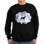 FIN-whippets-heaven.png Sweatshirt (dark)