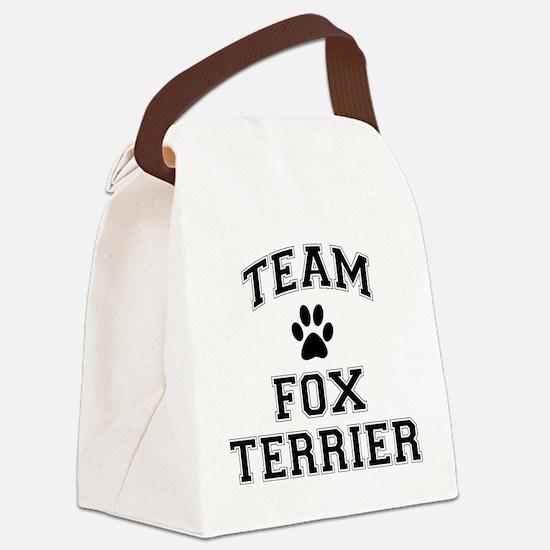 Team Fox Terrier Canvas Lunch Bag