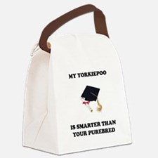 yorkiepoo-smarter-purebred.tif Canvas Lunch Bag