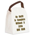FIN-outfit-dog-hair.png Canvas Lunch Bag