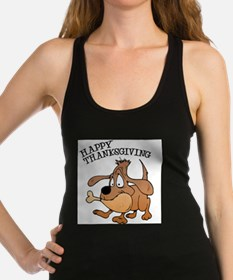 FIN-thanksgiving-dog.png Racerback Tank Top