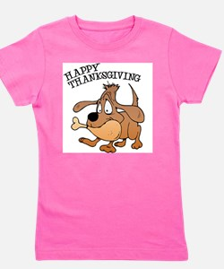 FIN-thanksgiving-dog.png Girl's Tee