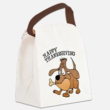 FIN-thanksgiving-dog.png Canvas Lunch Bag