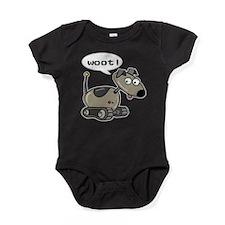 FIN-robot-dog-woot.png Baby Bodysuit
