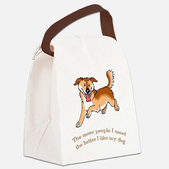 Dog - Cartoon 090.t... Canvas Lunch Bag