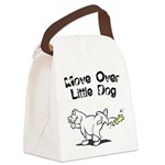 FIN-move-over-little-dog.png Canvas Lunch Bag