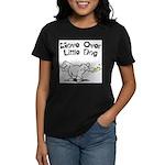 FIN-move-over-little-dog.png Women's Dark T-Shirt