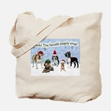 Bark The Herald Angels Sing Tote Bag