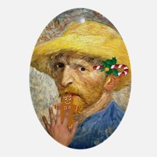 Christmas Van Gogh Oval Ornament