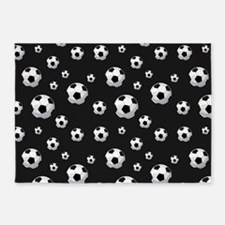 Soccer Balls Pattern 5'x7'Area Rug