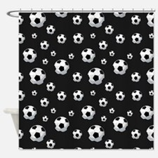 Soccer Balls Pattern Shower Curtain