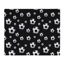 Soccer Balls Pattern Throw Blanket