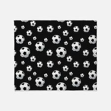 Soccer Balls Pattern Throw Blanket