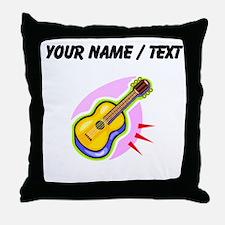 Custom Guitar Throw Pillow