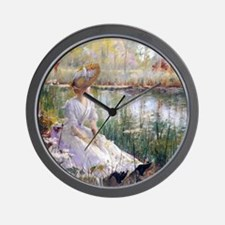Victorian Day By A River Wall Clock