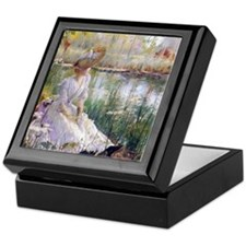 Victorian Day By A River Keepsake Box