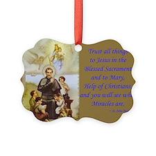 John Bosco W/quote Picture Ornament