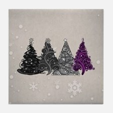 Asexual Christmas Trees Tile Coaster