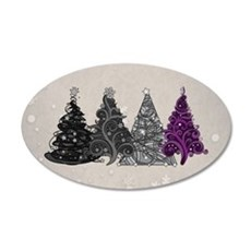 Asexual Christmas Trees Wall Decal